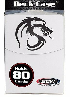BCW White Deck Box with Card Divider and 80 Matte Deck Guard Sleeves