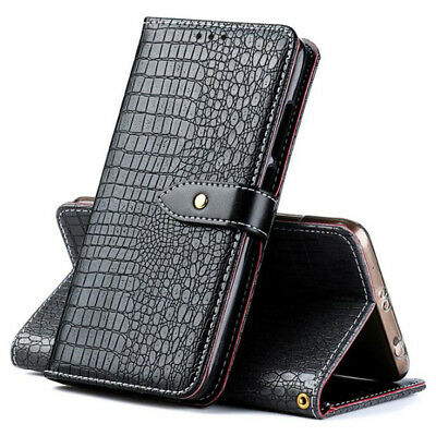 Luxury Crocodile Stand Wallet Flip PU Leather Case Cover For Huawei New Phones