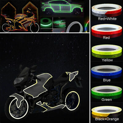 New Motorbike Car Reflective Rim Tape Wheel Sticker Trim Motorcycle Luminous 5M