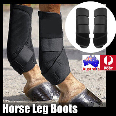 AU STOCK 1 PAIR Breathable Dressage Flatwork Horse Leg Protection Brushing Boots