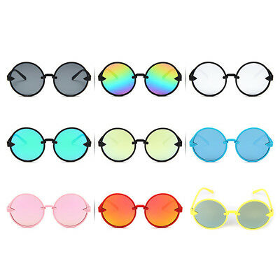 Kids Sunglasses Children Round Random Color Fashion UV400 Vintage Gifts Anti UV