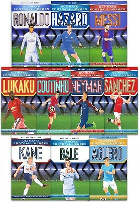 Ultimate Football Heroes Collection 9 Books Set Pack Messi, Neymar, Ronaldo Kane
