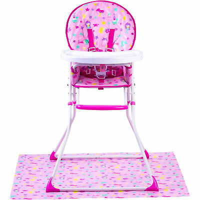 New Red Kite Mermaid Pink Feed Me Compact Highchair Baby Girls Feeding Chair