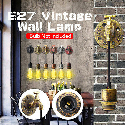 Industrial Retro Vintage E27 Rustic Sconce Wall Light Fixture Lamp Holder