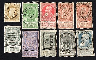 Belgium. Early Belgian stamps. Cancelled