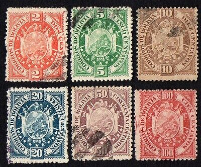 Bolivia stamps. 1894 Coat of Arms. Cancelled