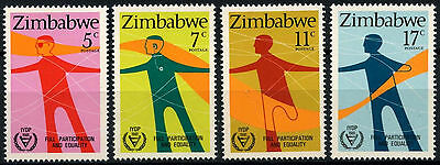Zimbabwe 1981 SG#602-605 Year Of Disabled Persons MNH Set #D50876