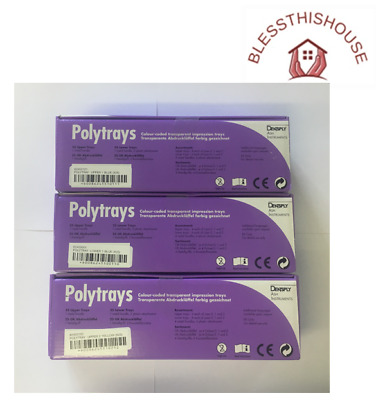 Dentsply Ash Instruments Polytrays - Upper & Lower (Blue/Yellow) Available Pk 25