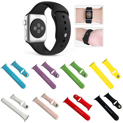 Replacement Silicone Sports Band Bracelet Strap For Apple Watch iWatch 42mm/38mm