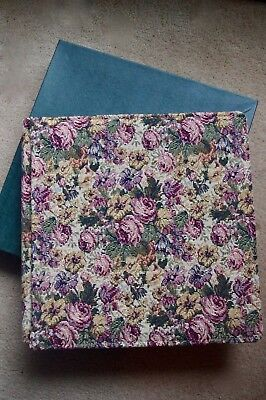 Creative Memories BNIB Floral Tapestry Original 12x12 album with white Pages