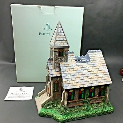 Partylite The Church P7321 Second Edition in Exclusive Olde World Village