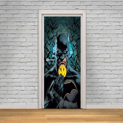 Batman Super Hero DC Comics 3D DOOR WRAP Decal Wall Sticker Decor Mural Art D278