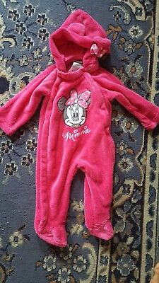 cce202434 DISNEY BABY~GIRL~FLEECE EMBROIDERED FOOTED BOTTOMS FLEECE JACKET! (3 ...