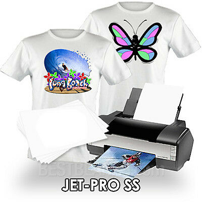 NEENAH TRANSFER PAPER JET PRO SS LIGHT FABRICS 25 SHEETS of 8.5x11""