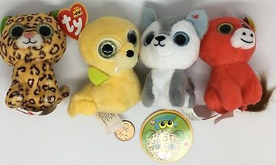 fc38be05a75 TY TEENIE BEANIE BOOS Plush Toys McDonald s 2017 Snort Timber Tusk Freckles  Lot