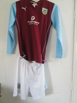 "Burnley 2010-2011 Home Football Shirt Size 32-34""  and shorts chest /43727"