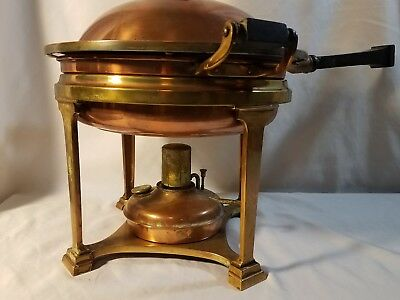 Antique copper Landers Frary & Clark chafing dish bowl
