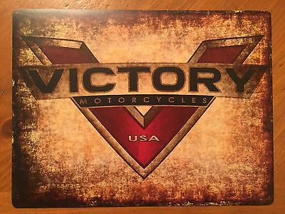 Tin Sign Vintage Victory Motorcycles USA 2