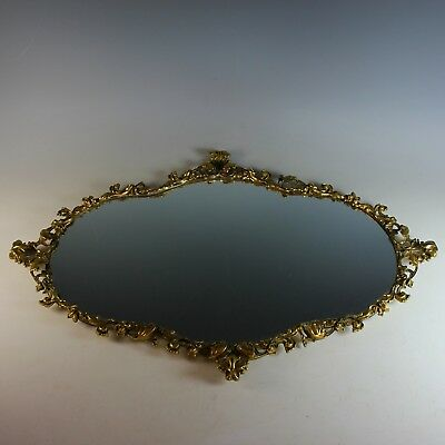 Antique Gilded Bronze Mirrored Plateau – 25 by 17 inches