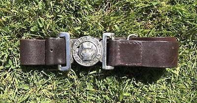 Victorian Volunteers General Service Leather  Belt  Clasp. White Metal Original.