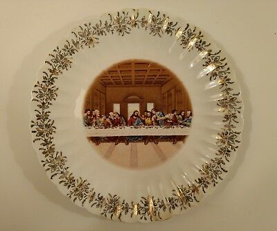 Christianity Cabinet Plate Lord's Supper The Last Supper Religious Wall Art Vtg