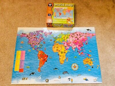 Orchard toys world map jigsaw poster educational 5 10 yrs orchard toys world map 150 piece floor puzzle gumiabroncs Image collections
