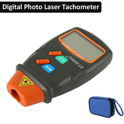 Willkey Digital Laser Photo Tachometer Non Contact RPM Motor Speed Gauge Measure