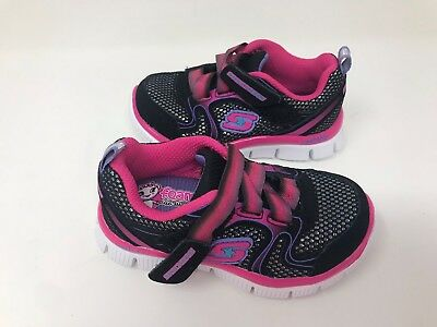 Sport Sandals-Black//Pink  77H New Skechers Girls Toddler Cape Cod 82217N