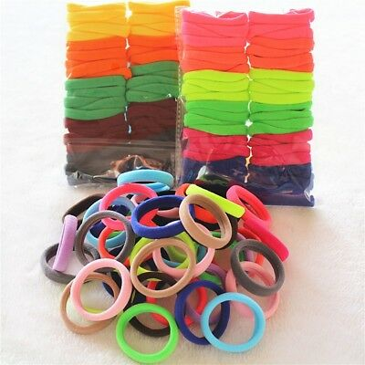 Girls Hair Rubber Band Elastic Hair Ring Women Hair Styling Tool Colorful 50PCS
