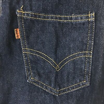 VTG 1970s Levi's Orange Tag Women's Dark Denim High Waist Straight Leg Jeans 26""
