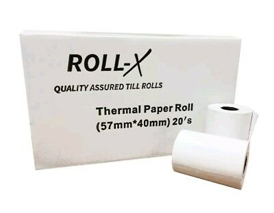 X3 BOXES! Just Eat Compatible Roll-X Thermal Till Rolls (57x40) Quality Assured