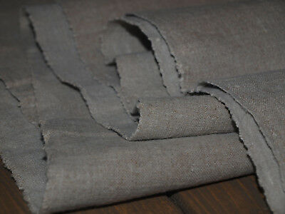 3.5 yards Antique Old Organic Natural Linen Flax Handwoven Homespun Fabric