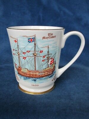 Aynsley mug 350th Anniversary of sailing of the Pilgrim Fathers in The Mayflower