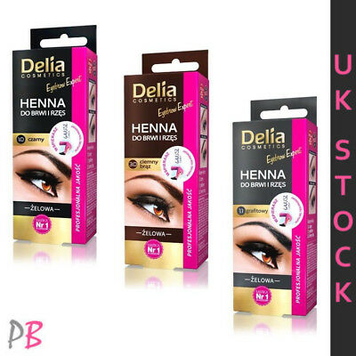 Delia Henna Eyelash Eyebrow Gel Tint Kit Complete Set Black