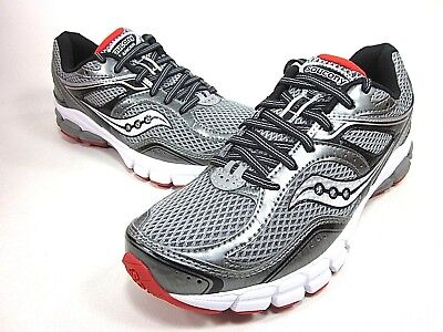 low cost b6d24 2f73e SAUCONY MENS LANCER Running Shoes Grey/black/red Size 7, 7.5 Medium New