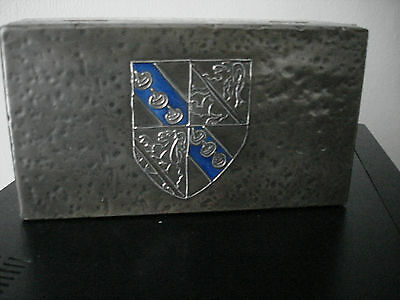 Lovely Arts & Crafts Art Nouveau Original Rare Metal Pewter And Enamel