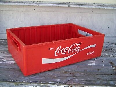 Vintage Coca Cola Coke Red Plastic Crate Case Carrier 500 Ml