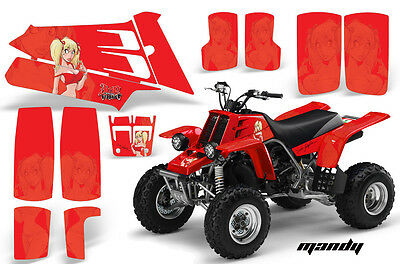 ATV Graphics Kit Quad Decal Sticker Wrap For Yamaha Banshee 350 87-05 MANDY RED