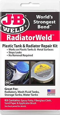 RadiatorWeld Plastic OR Metal Tank EPOXY REPAIR KIT radiator leak J-B WELD 2120