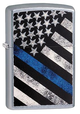 Zippo 29551, Blue Line-Police, Street Chrome Finish Lighter, Full Size