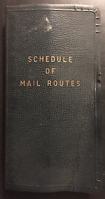 1957 United States Post Office Schedule of Mail Routes – Philadelphia