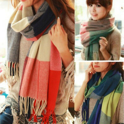 Women Lady Winter Warm CASHMERE Scarf Solid Plaid Cashmere SCOTLAND High Quality