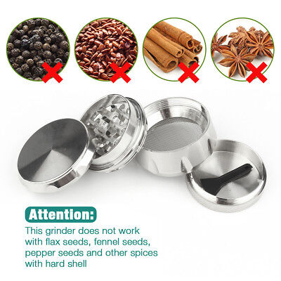 Tobacco Herb Spice Grinder 4-Layers Alloy Smoke Zinc Alloy Metal Crusher Purp