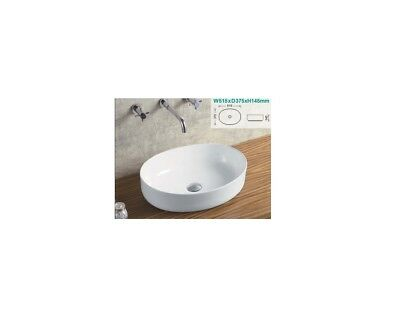 Oval Shaped Above Counter Top Ceramic Basin White Modern Design