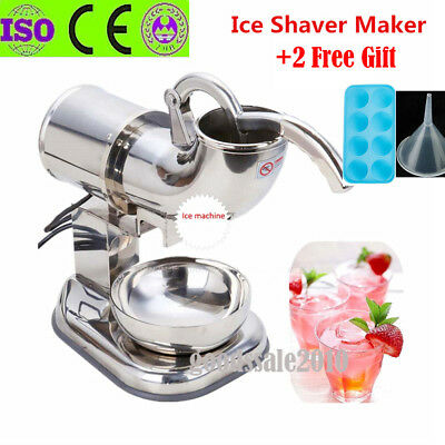 440lbs/h Electric Ice Shaver Machine Snow Cone Maker Crusher Shaving Cold Drink