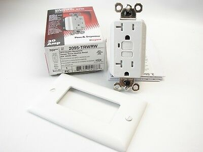 Pass & Seymour 2095-TRWRW GFCI Weather & Tamper Resistant 125V 20A White (t74)
