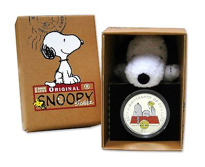 Peanuts 60th Anniversary 2010 British Virgin Islands $1 Coin Snoopy