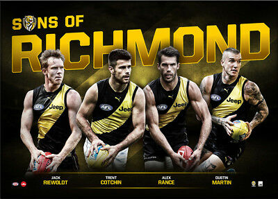 Sons of Richmond 2018 LE Official AFL Print Only Martin Cotchin Rance Riewoldt