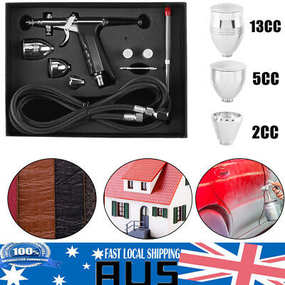 Airbrush Spray Gun Dual Action Air Brush Craft Spray Hose Kit Set 0.3/0.5/0.8mm