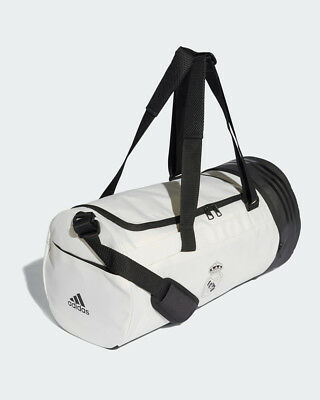 Real Madrid Adidas Borsa Holdall Duffle bag tg Unisex Bianco 2018 19 Team  Bag 344ff109bf9f